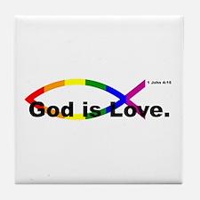 God is Love. Tile Coaster
