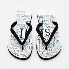 Isaiah 53 Typography Art Flip Flops