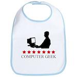 Computer Geek (red stars) Bib
