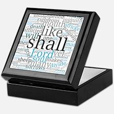 Isaiah 53 Typography Art Keepsake Box