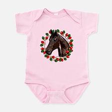 Christmas Lights Wreath Horse Infant Bodysuit