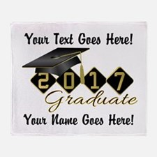 Graduate Black 2016 Throw Blanket