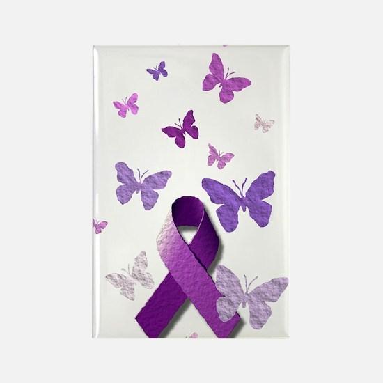 Purple Awareness Ribbon Magnets