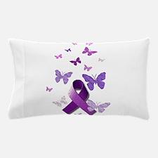 Purple Awareness Ribbon Pillow Case