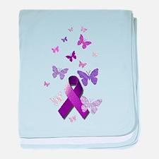 Purple Awareness Ribbon baby blanket