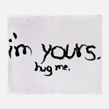 I'm Yours, crayon black Throw Blanket