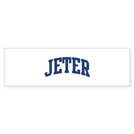 JETER design (blue) Bumper Sticker