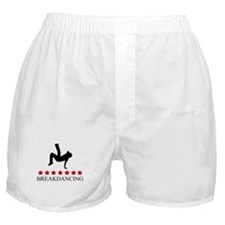 Breakdancing (red stars) Boxer Shorts