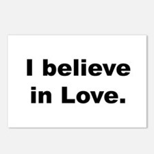 I believe in love. Postcards (Package of 8)