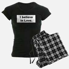 I Believe In Love Women's Dark Pajamas