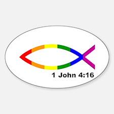 God Is Love Sticker (oval)
