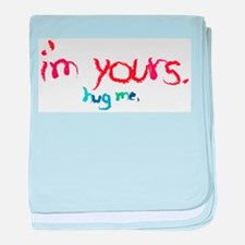 I'm yours, crayon color baby blanket