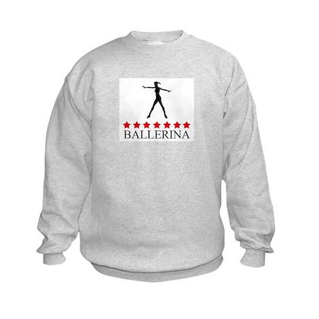 Ballerina (red stars) Kids Sweatshirt