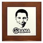 Obama for Peace Framed Tile