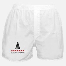 Badminton (red stars) Boxer Shorts