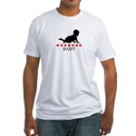Baby (red stars) Fitted T-Shirt