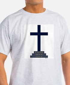 Calvary Cross Ash Grey T-Shirt