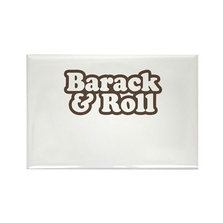 Barack and Roll Rectangle Magnet (100 pack)