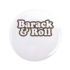 """Barack and Roll 3.5"""" Button (100 pack)"""