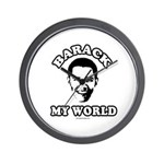 Barack my world Wall Clock