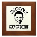 Barack my world Framed Tile