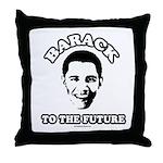 Barack to the future Throw Pillow
