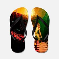 Awesome fantasy world Flip Flops