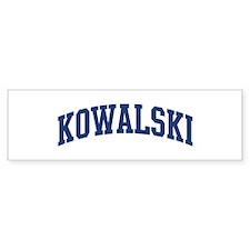 KOWALSKI design (blue) Bumper Bumper Sticker