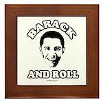 Barack and roll Framed Tile