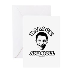 Barack and roll Greeting Card