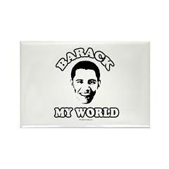 Barack my world Rectangle Magnet (10 pack)