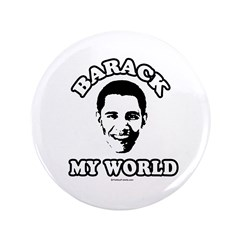 "Barack my world 3.5"" Button (100 pack)"