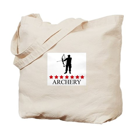 Archery (red stars) Tote Bag