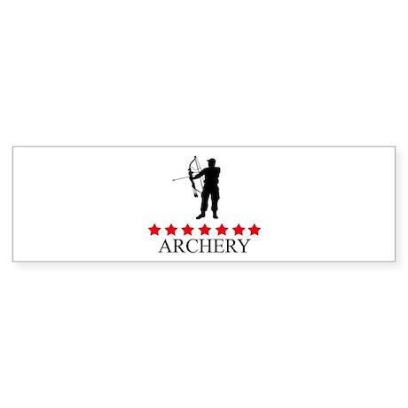 Archery (red stars) Bumper Sticker