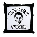 Barack & Roll Throw Pillow