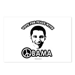 Vote for peace with Obama Postcards (Package of 8)