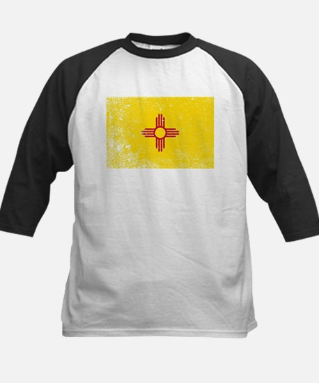 New Mexico State Flag Grunge Baseball Jersey