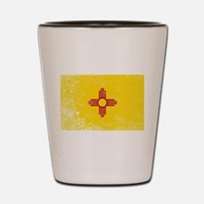 New Mexico State Flag Grunge Shot Glass