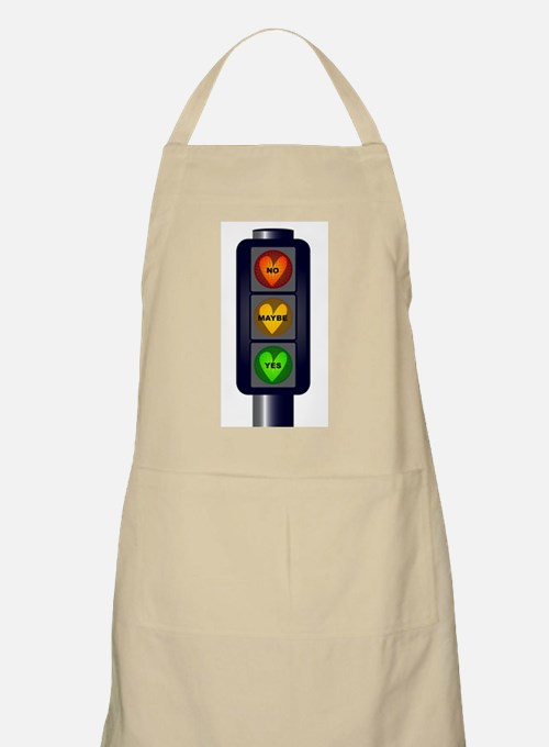 Yes No Maybe Traffic Lights Apron