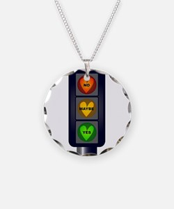Yes No Maybe Traffic Lights Necklace