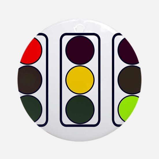 Cute Traffic signal Round Ornament