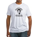 Barack Obama face Fitted T-Shirt