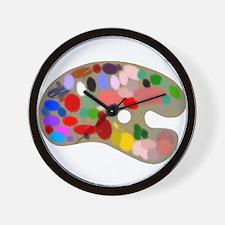 Artist Pallet Wall Clock