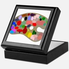 Artist Pallet Keepsake Box