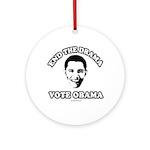 End the drama, Vote Obama Ornament (Round)