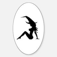 Cute Siren Sticker (Oval)