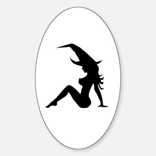 Unique Attractive woman Sticker (Oval)