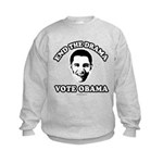 End the drama, Vote Obama Kids Sweatshirt