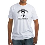 End the drama, Vote Obama Fitted T-Shirt