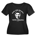 End the drama, Vote Obama Women's Plus Size Scoop